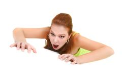Attractive woman crawling Royalty Free Stock Photography