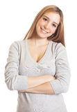 Attractive woman with crossed arms Royalty Free Stock Image