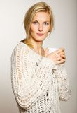 Attractive Woman with a Cup of Coffee Stock Image