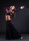 Attractive woman dance in oriental arabic costume Royalty Free Stock Photography