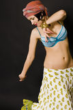 Attractive woman dances Stock Image