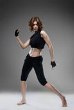Attractive woman dancing Royalty Free Stock Image