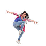 An attractive woman dancing. Stock Photos