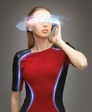 Attractive woman with digital glasses Stock Image