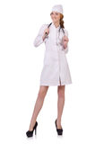Attractive woman doctor Stock Photos
