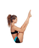 Attractive woman doing pilates exercises Royalty Free Stock Photo