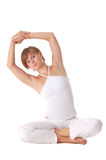 Attractive woman doing stretching Royalty Free Stock Images