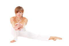 Attractive woman doing stretching Royalty Free Stock Photography