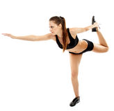Attractive woman doing stretching Stock Photo