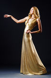 Attractive woman in  dress Royalty Free Stock Photos