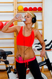 Attractive woman drinks water Royalty Free Stock Photography