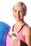 Attractive woman enjoying herself after workout Royalty Free Stock Photography