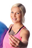 Attractive woman enjoying herself after workout Stock Photos