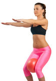 Attractive woman exercise Stock Photo