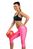 Attractive woman exercise Royalty Free Stock Image