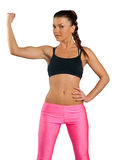 Attractive woman exercise Royalty Free Stock Photos