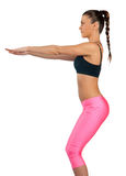 Attractive woman exercise Royalty Free Stock Photography