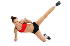 An attractive woman exercising Stock Photo