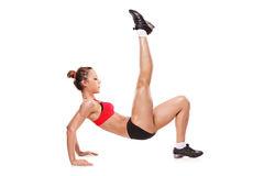 Attractive woman exercising Royalty Free Stock Photo