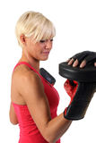 Attractive woman exercising Royalty Free Stock Image