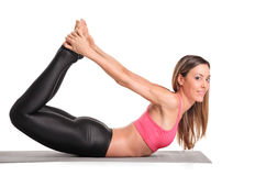 Attractive woman exercising Stock Photos