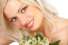 Attractive woman face. Stock Image