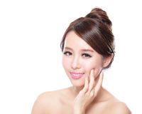 Attractive woman face with health skin Royalty Free Stock Images
