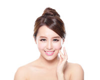 Attractive woman face with health skin Royalty Free Stock Photo