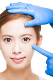 Attractive  woman face and medical beauty concept Stock Photography