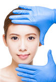 Attractive  woman face and medical beauty concept Royalty Free Stock Photo
