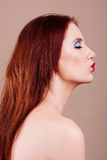 Attractive woman face with pouting mouth Royalty Free Stock Photo