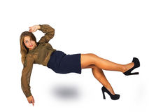 Attractive woman falling down Stock Image