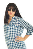 Attractive woman with fashion sunglasses Stock Photography