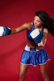 Attractive woman fighting Stock Image