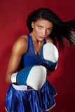 Attractive woman fighting Stock Photography