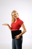 Attractive Woman with File Stock Photos