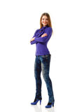 Attractive woman full length Royalty Free Stock Photos