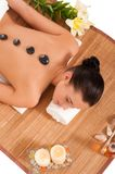 Attractive woman getting spa treatment. Royalty Free Stock Image