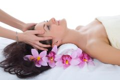 Attractive woman getting spa treatment Stock Photography