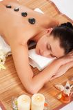 Attractive woman getting spa treatment Royalty Free Stock Photos