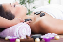 An attractive woman getting spa treatment Royalty Free Stock Photo