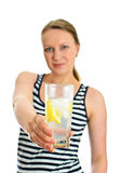 Attractive woman with glass of water Stock Photo