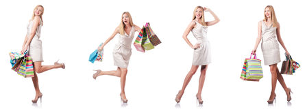 The attractive woman after good shopping Royalty Free Stock Image