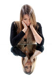 Attractive woman grieving Royalty Free Stock Images