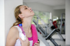 Attractive woman at the gym Stock Image