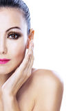 Attractive woman half-face Royalty Free Stock Image