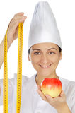 Attractive woman happy cook Stock Images