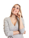 Attractive woman has an idea Royalty Free Stock Photo