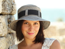 Attractive woman in a hat Stock Photography