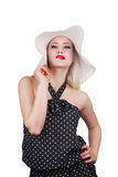 Attractive woman with hat Stock Image